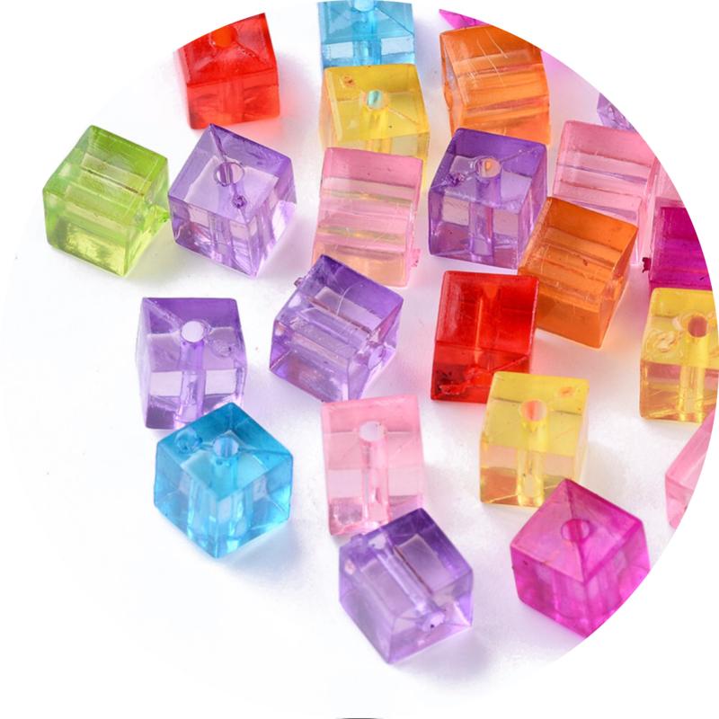 Kralen kubus mix 50st