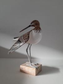 Vogel op blok