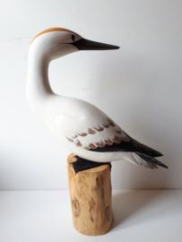 Houten vogel wit