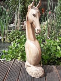 Houtsnijwerk paardenhoofd in 2 varianten