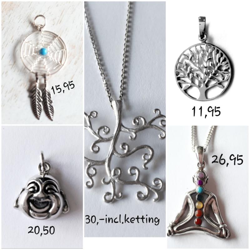 Zilveren symbool sieraden