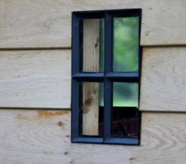 Stalen raam vast zwart gecoat - 40 x 40 cm (BxH)