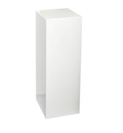 Royal witte sokkel glans - 25 cm x 25 cm x 90 cm (BxLxH)