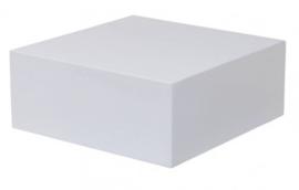 GM Hochglanz Weiße Sockel - 40 cm x 40 cm x 55,5 cm (BxTxH)