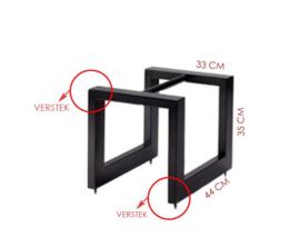 Metalen standaard - 44 x 33 x 33 cm (LXBXH) volgens tekening