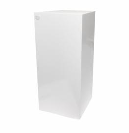 GM Hochglanz Weiße Sockel - 40 cm x 40 cm x 80 cm (BxTxH)