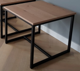 Salontafel onderstel/frame 120x120x30 met dwarsbalk | 3 cm frame | incl. pallet verzending