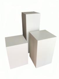 GM Hochglanz Weiße Sockel - 30 cm x 30 cm x 110 cm (BxTxH)