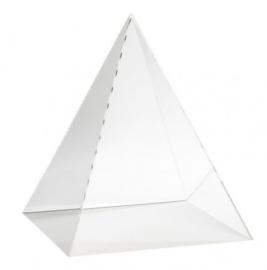 Piramyde vitrinekap Acrylaat - 30 cm x 30 cm x 35 cm (BxTxH)