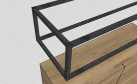 Metalen frame - 30x90x20 cm (LxBxH)  (15mm voor de kokers)