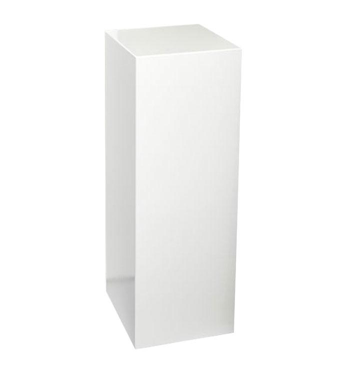 GM Weiße Sockel - 20 cm x 20 cm x 80 cm (BxTxH)