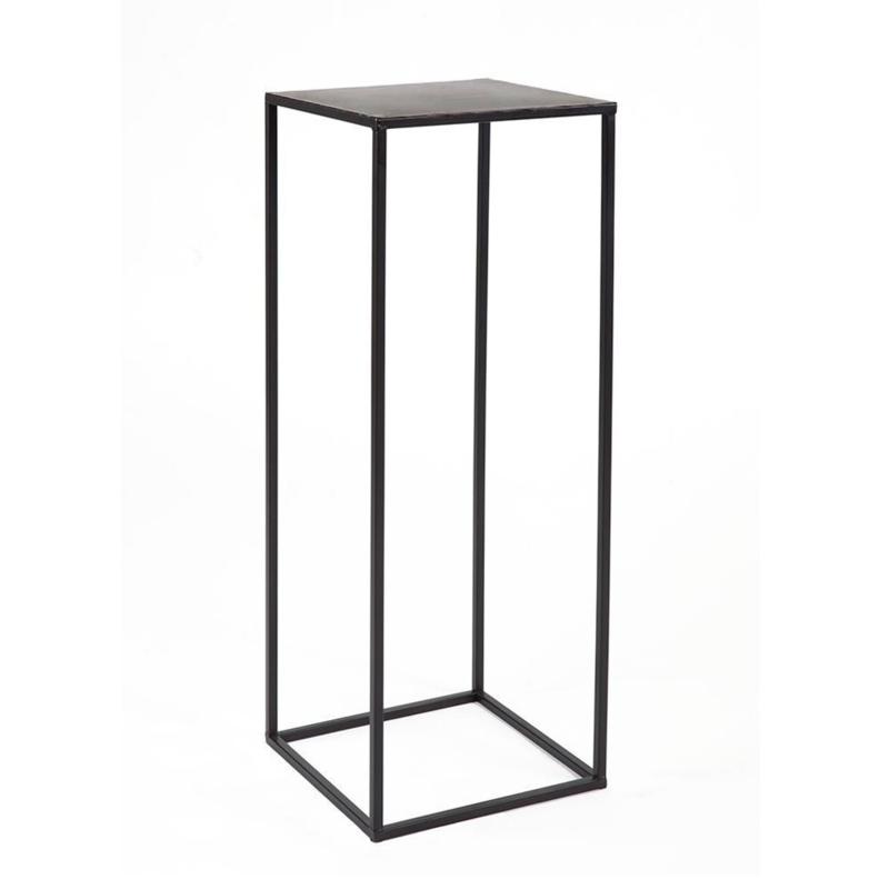 Metall Säule Black-serie Schwarz - 30 cm x 30 cm x 70 cm (BxTxH)