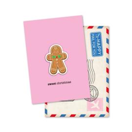 Magneetkaart 5 stuks | sweet Christmas