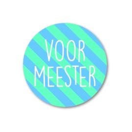 5 Stickers | voor meester