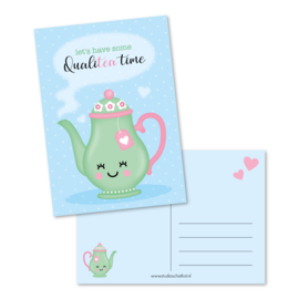 Kaart A6 | let's have some qualiTEA time