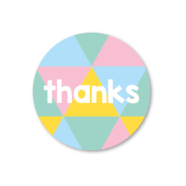 5 stickers | thanks