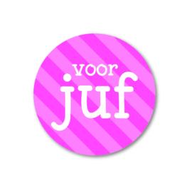 5 stickers | voor juf