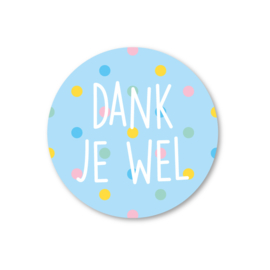 5 Stickers | dank je wel