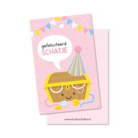 Kadolabel | gefeliciteerd schatje