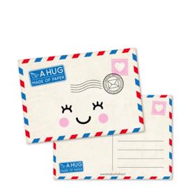 Kaart A6 | a hug made of paper