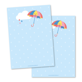 Notitieblok A6   paraplu