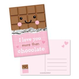 Kaart A6 | i love you more than chocolate