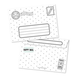 envelop 10 stuks | zwart wit