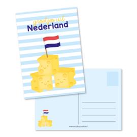 Kaart A6   groetjes uit Nederland