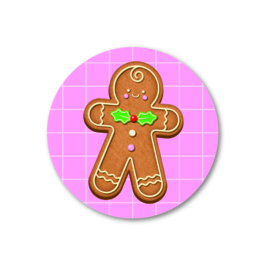 5 Stickers | gingerbread man