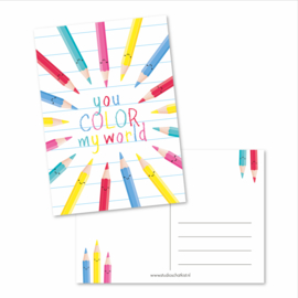 Kaart A6 | you color my world