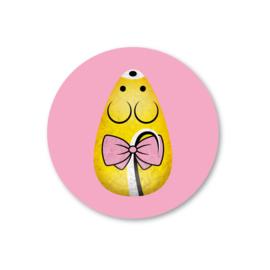 5 Stickers | muis, geel