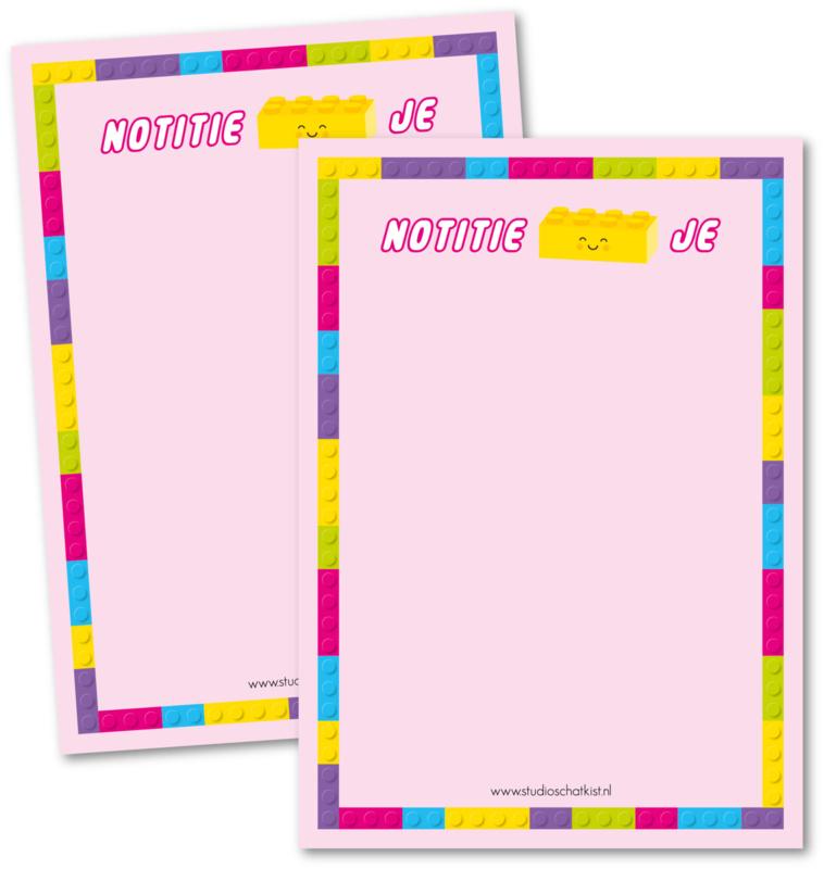 Notitieblok A6 | notitie-blok-je, roze
