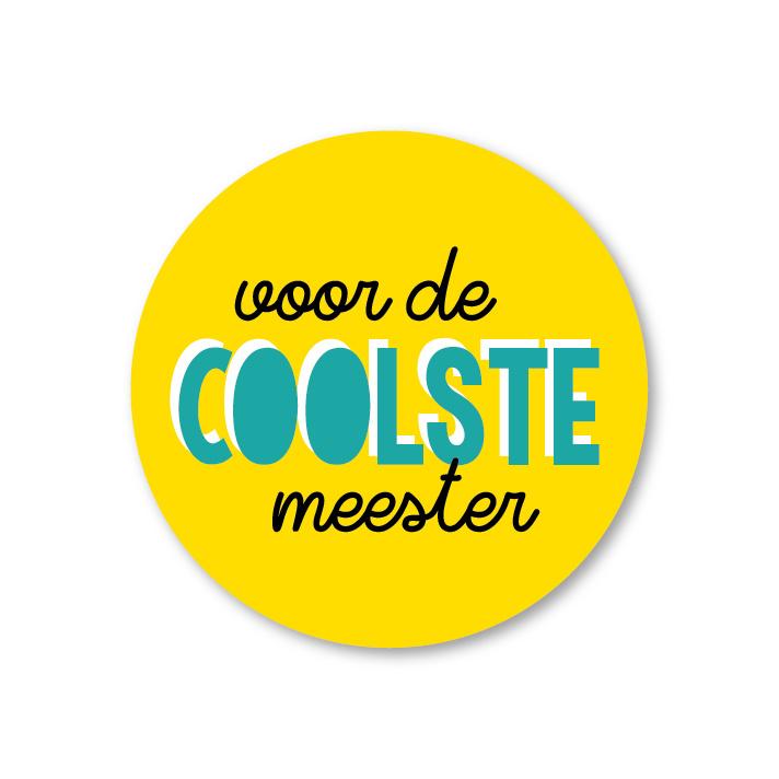 5 Stickers | voor de coolste meester