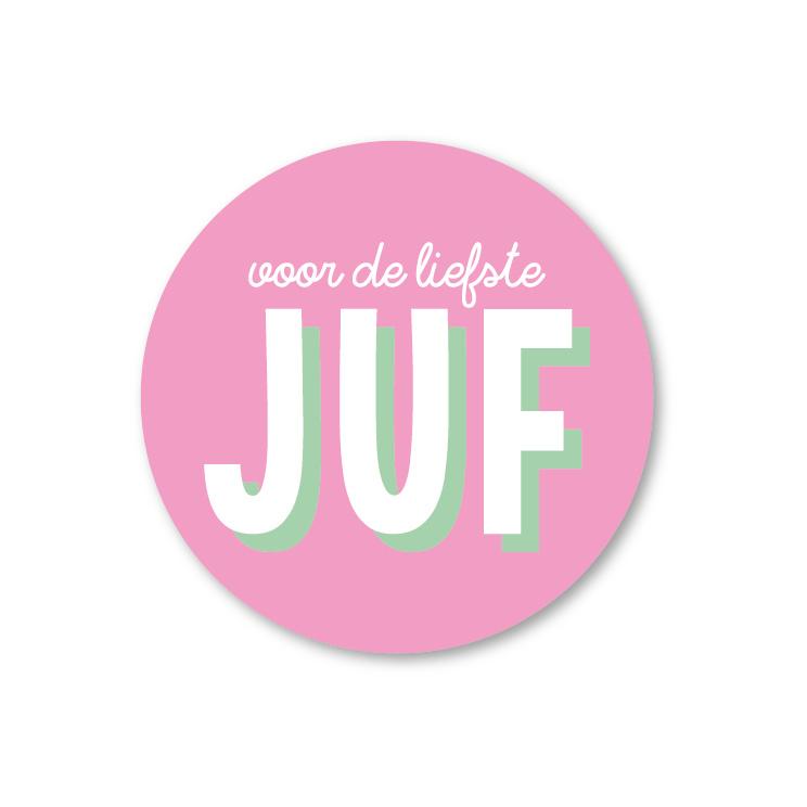5 Stickers | voor de liefste juf