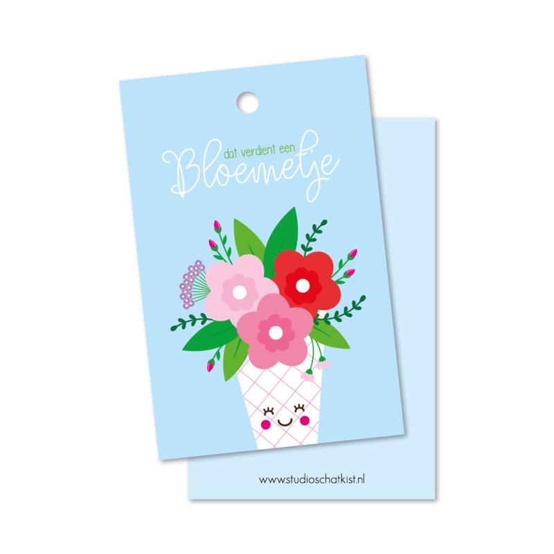 Kadolabel | dat verdient een bloemetje