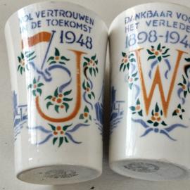 Societe Ceramique Maastricht  Wilhelmina Beker 1898-1948