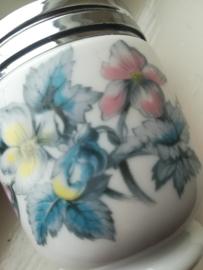 Egg Codller Worcester   Blauwe Bloem decoratie