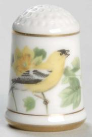 Vingerhoed - Franklin Mint - Tuinvogels - Goudsijs