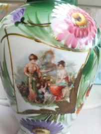 Opaline  vaas - handbeschilderd - 1880