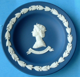 Wedgwood dark blue  the Queens Silver Jubilee