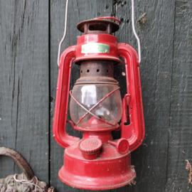 Stormlamp Retro Rood