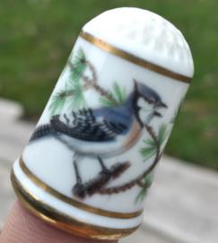 Vingerhoed - Franklin Mint - Tuinvogels - Blauwe Gaai