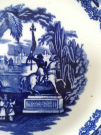Societe ceramique Maestricht Blauw wit Orient bord 25.5 cm