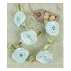 Zijde roosjes in zakje