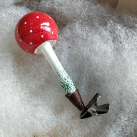 Antieke paddenstoel met clip