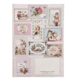 10 verschillende brocante kaarten Verjaardag