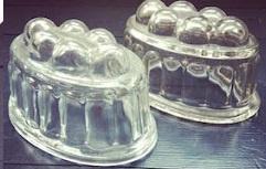 Engels - Puddingvorm - Glas - jaren 50