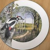 Royal Doulton Wandbord The Woodland Woodpecker