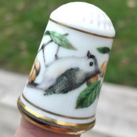 Vingerhoed - Franklin Mint - Tuinvogels - Tweekleurige Mees