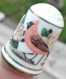 Vingerhoed - Franklin Mint - Tuinvogels - Zwartvleugeltangare